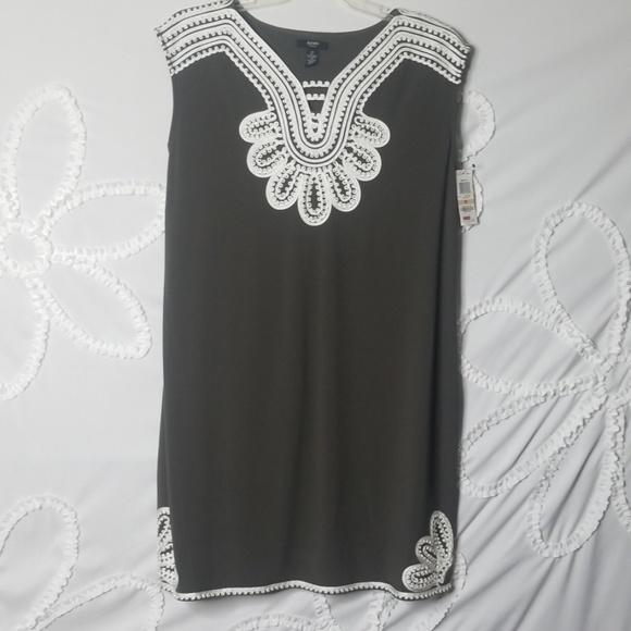 Alfani Dresses & Skirts - Olive Green Embroidered Dress BNWT!